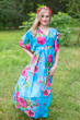 """I wanna Fly"" kaftan in Large Fuchsia Floral Blossom pattern"