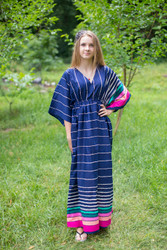 """I wanna Fly"" kaftan in Multicolored Stripes pattern"