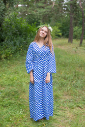 """Button me down"" kaftan in Polka Dots pattern"