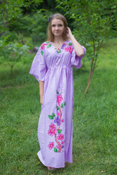 """I wanna Fly"" kaftan in Swirly Floral Vine pattern"