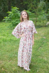 """I wanna Fly"" kaftan in Vintage Chic Floral pattern"