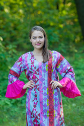 """Frill lovers"" kaftan in Diamond Aztec pattern"