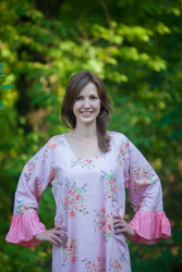 """Frill lovers"" kaftan in Faded Flowers pattern"