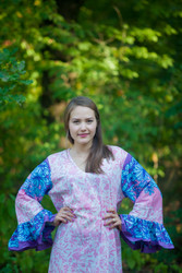 """Frill lovers"" kaftan in Falling Leaves pattern"