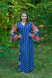 """Frill lovers"" kaftan in Floral Bordered pattern"