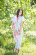 """Beach Days"" kaftan in Cabbage Roses pattern"