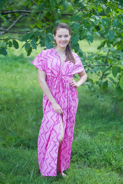 """Beach Days"" kaftan in Chevron pattern"