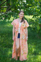 """Beach Days"" kaftan in Flower Rain pattern"