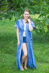 """Beach Days"" kaftan in Geometrica pattern"