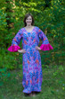 """Frill lovers"" kaftan in Ikat Aztec pattern"