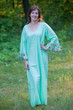 """Frill lovers"" kaftan in Little Chirpies pattern"
