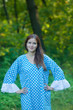 """Frill lovers"" kaftan in Polka Dots pattern"