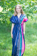 """Beach Days"" kaftan in Multicolored Stripes pattern"