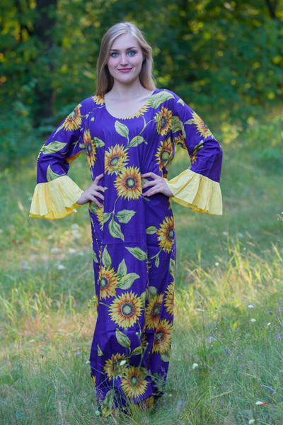 """Frill lovers"" kaftan in Sunflower Sweet pattern"