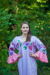 """Frill lovers"" kaftan in Swirly Floral Vine pattern"