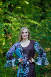 """Frill lovers"" kaftan in Vibrant Foliage pattern"