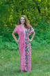 """Beach Days"" kaftan in Round and Round pattern"