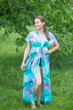 """Beach Days"" kaftan in Watercolor Splash pattern"