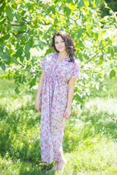 """Beach Days"" kaftan in Vintage Chic Floral pattern"