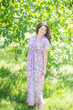 "Beach Days"" kaftan in Vintage Chic Floral pattern"