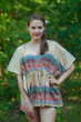 """Timeless"" kaftan Top in Abstract Geometric pattern"