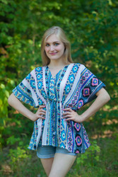 """Timeless"" kaftan Top in Aztec Geometric pattern"