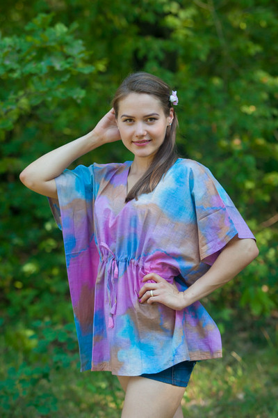 """Timeless"" kaftan Top in Batik Watercolor pattern"