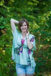 """Timeless"" kaftan Top in Big Butterfly pattern"