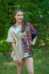 """Timeless"" kaftan Top in Cheerful Paisleys pattern"