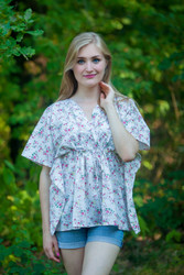 """Timeless"" kaftan Top in Tiny Blossoms pattern"