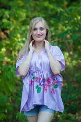 """Timeless"" kaftan Top in Swirly Floral Vine pattern"