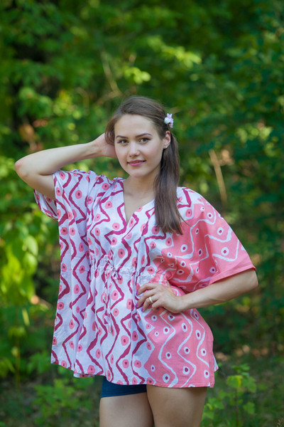 """Timeless"" kaftan Top in Chevron Dots pattern"