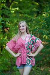 """Timeless"" kaftan Top in Round and Round pattern"
