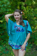 """Summer Celebration"" kaftan Top in Big Butterfly pattern"