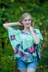 """Summer Celebration"" kaftan Top in Butterfly Baby pattern"