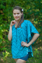 """Summer Celebration"" kaftan Top in Chevron pattern"