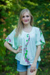 """Summer Celebration"" kaftan Top in Climbing Vines pattern"