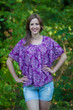 """Summer Celebration"" kaftan Top in Damask pattern"