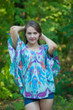 """Summer Celebration"" kaftan Top in Ikat Aztec pattern"