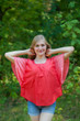 """Summer Celebration"" kaftan Top in Ombre TieDye pattern"
