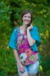"""Summer Celebration"" kaftan Top in Vibrant Foliage pattern"