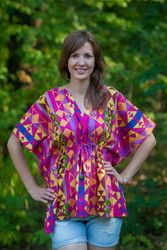 """Timeless"" kaftan Top in Diamond Aztec pattern"