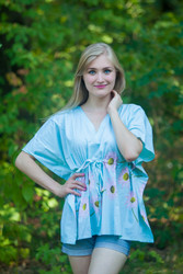 """Timeless"" kaftan Top in Falling Daisies pattern"