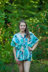 """Timeless"" kaftan Top in Flamingo Watercolor pattern"