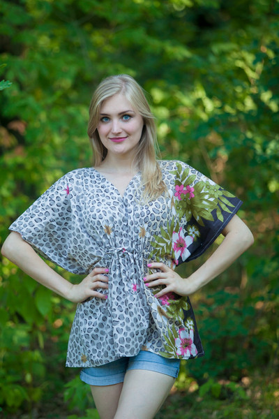 """Timeless"" kaftan Top in Fun Leopard pattern"