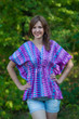 """Timeless"" kaftan Top in Geometrica pattern"