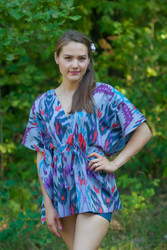 """Timeless"" kaftan Top in Ikat Aztec pattern"