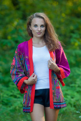 """Street Style"" Kimono jacket in Cheerful Paisleys pattern"