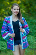 """Street Style"" Kimono jacket in Diamond Aztec pattern"