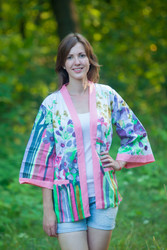 """Street Style"" Kimono jacket in Floral Watercolor Painting pattern"